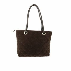 Talbots Brown Quilted Tote Handbag